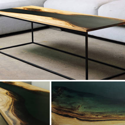 Contemporary River Table Using GlassCast 50 Epoxy Resin